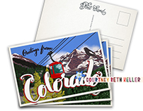Greetings from Colorado postcard design