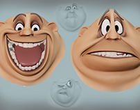 2D Style Facial Rigging