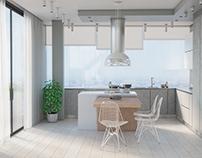 Interior 3D Render of a Kitchen in Alicante, Spain