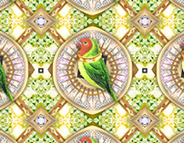 Pattern design Bling Birds 13 Edouard Artus ©2018
