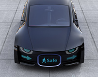Digital signage for self-driving car