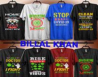 covid19 t-shirt design.