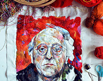 Joseph Brodsky / embroidery