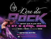 Branding L'Ère du Rock - CPA Terrebonne. Show 2015.