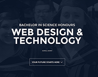 Web Template UI Design for NSBM Web Design & Technology