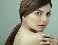 Beauty shot with Mehndi