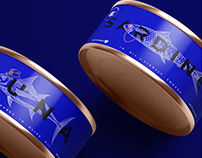 Logo & packaging for a brand of canned fish