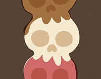 Triple Scoop Skull Cone