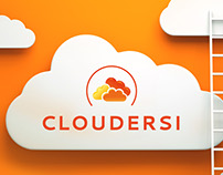 Cloudersi - Logotype, identity and website design