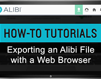 How-to Export an Alibi File with a Web Browser