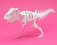 POP-UP T-REX SKELETON
