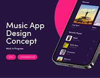 Music App - Design Concept