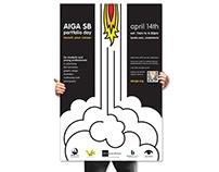 AIGA Santa Barbara Portfolio Day poster