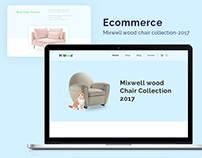 Mixwell wood E-commerce Landing & others page concept