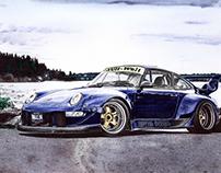 RWB Porsche 911 Royal Ocean(993)