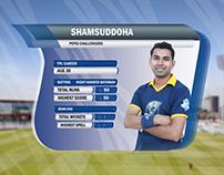 Pepsi Challengers Cricket Team Score Animation