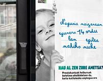 Campaña publicitaria. Formación para jóvenes