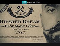 Hipster Dream font - Retro, vintage Times font