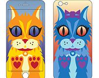 iPhone Skin Design: CATS