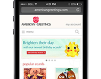 American Greetings Mobile Website