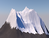 Cinema 4D Low Poly Mountain