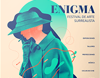 ENIGMA | Festival de Arte Surrealista - Branding