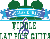 Logo Design Fiddle & Flat Pick Guitar