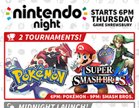 Nintendo Night (Event Poster)