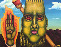 The Cactus God Triptych