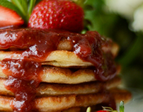 Food photography/Gluten-free American pancakes