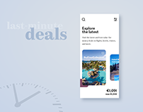 Last Minute - Travel App Concept