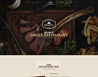 Circle - Restaurant Onepage PSD Template