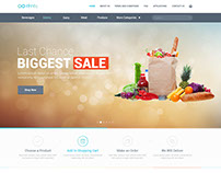 Infinity Grocery Store Homepage Design