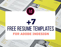 7+ Free Resume Templates For Adobe InDesign