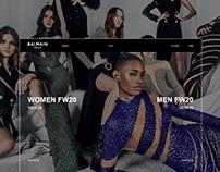 Balmain website redesign concept