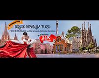 #Spain, Banner, Web, Design