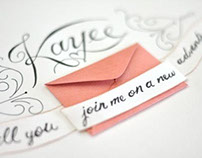 Hand lettering and pop-up ring envelope