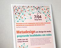 Poster de Palestra sobre Metadesign