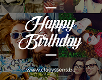 Claeyssens Optic - Birthday cards