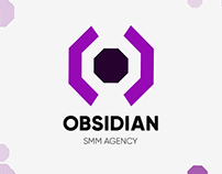 Логотип SMM Агентства «OBSIDIAN»