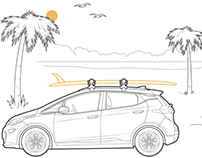 Line Illustrations for Chevy New Roads