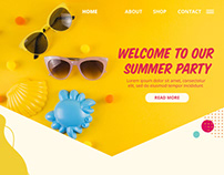 Welcome to our summer party Landing page