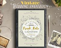 Vintage Wedding Invitation I