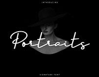 Portraits - Signature font. Free font