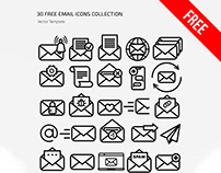 FREE EMAIL ICONS SET IN EPS + PSD