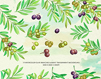 Olive Branch Watercolor Alphabets