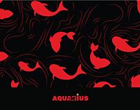Aquarius branding (Seafood & Sushi Restaurant)