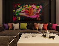 Private Apartment- Livingroom