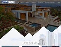 Moke-up of Real estate website.