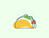 Tacos - Illustration Line Icons